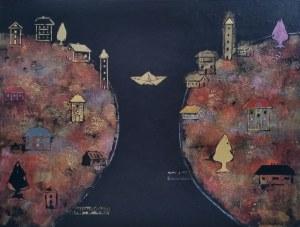 Grażyna Kilanowicz-Barecka, Kompozycja 2 z cyklu Wyspy, 2018