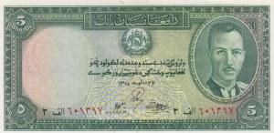 Afghanistan, 5 Afghanis, 1939, UNC, p22