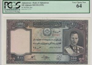 Afganistan, 100 Afghanis, 1939, UNC, p26a