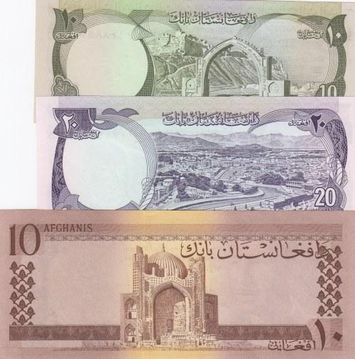 Afghanistan,  Total 3 banknotes