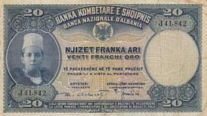 Albania, 20 Franka Ari, 1926, VF, p3a