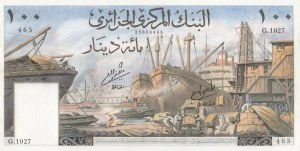 Algeria, 100 Dinars, 1964, XF, p125