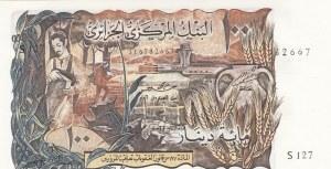 Algeria, 100 Dinars, 1970, UNC (-), p128b