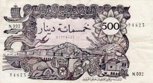 Algeria, 500 Dinars, 1970, VF, p129a