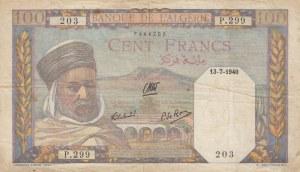 Algeria, 100 Francs, 1940, VF, p85