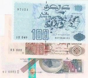 Algeria,  UNC,  Total 3 banknotes