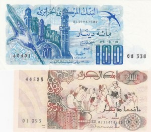 Algeria,  Total 2 banknotes