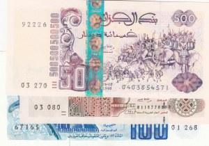 Algeria,  Total 3 banknotes