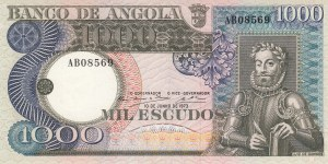 Angola, 1.000 Escudos, 1973, AUNC(-), p108