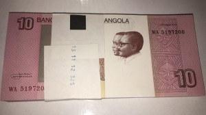 Angola, 10 Kwansas, 2012, UNC, p151B, BUNDLE