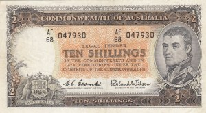 Australia, 10 Shillings, 1961/1965, XF, p33a