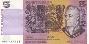 Australia, 5 Dollars, 1974/1991, UNC, p44