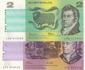 Australia,  XF,  Total 2 banknotes