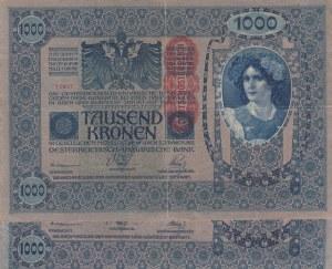 Austria, 1.000 Kronen, 1902, FINE, p59, Total 2 banknotes