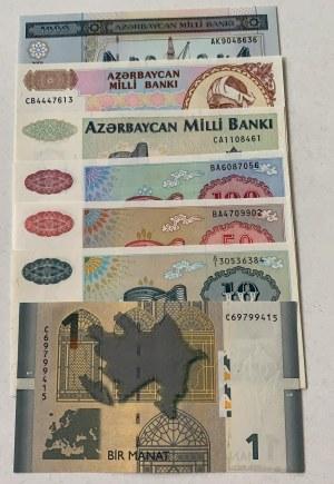 Azerbaijan,  Total 7 banknotes