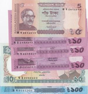 Bangladesh,  UNC,  Total 6 banknotes