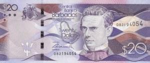 Barbados, 20 Dollars, 2013, UNC, p76