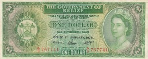 Belize, 1 Dollar, 1976, VF, p33c