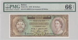 Belize, 20 Dollars, 1976, UNC, p37c