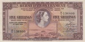 Bermuda, 5 Shillings, 1957, VF, p18b