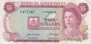 Bermuda, 5 Dollars, 1970, VF(+), p24a