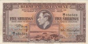 Bermuda, 5 Shillings, 1937, VF, p8b
