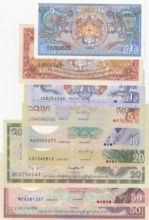 Bhutan,  Total 8 banknotes