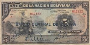 Bolivia, 5 Bolivianos, 1929, VF, p113