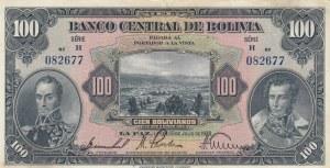 Bolivia, 100 Bolivianos, 1928, XF, p125a