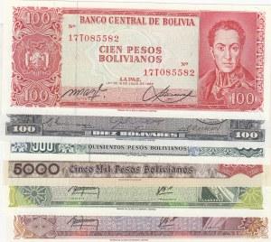Bolivia,  Total 6 banknotes