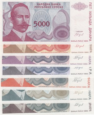 Bosnia and Herzegovina,  UNC,  Total 7 banknotes