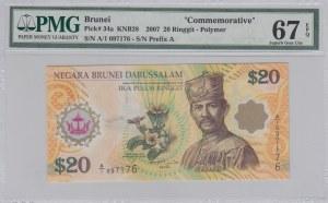 Brunei, 20 Ringgit, 2007, UNC, p34a