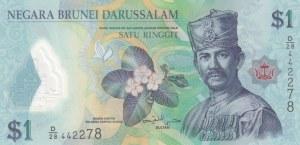 Brunei, 1 Ringgit, 2013, UNC, p35b