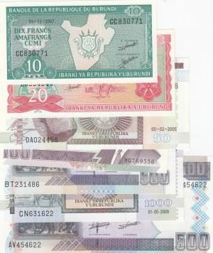 Burundi,  Total 7 banknotes