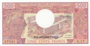 Cameroon, 500 Cents, 1983, UNC, p15d