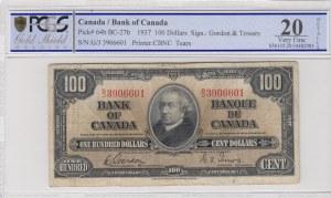 Canada, 100 Dollars, 1937, VF, p64b