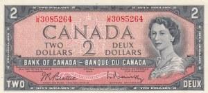Canada, 2 Dollars, 1961-72, UNC (-), p76b