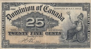Canada, 25 Cents, 1900, XF, p9