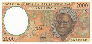 Central African States, 2.000 Francs, 1993, UNC, p103Ca