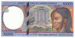 Central Africa, 10.000 Francs, 1994-2000, AUNC, p105C