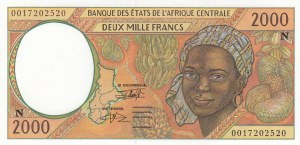Central African States, 2.000 Francs, 1993, UNC, p503Na