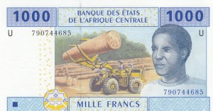 Central African States, 1000 Francs, 2002, UNC, p507f