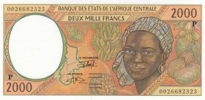 Central African States, 2.000 Francs, 2000, UNC, p603Pg