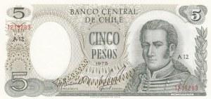 Chile, 5 Pesos, 1975, UNC, p149a
