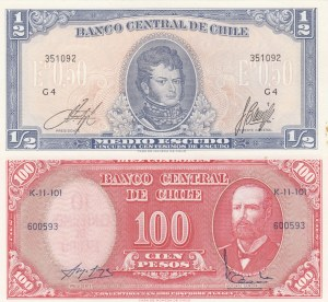 Chile,  Total 2 banknotes