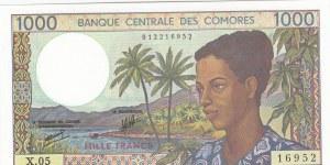 Comoros, 1.000 Francs, 1994, UNC, p11b