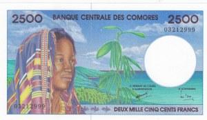 Comoros, 2.500 Francs, 1997, UNC, p13
