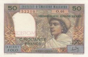 Comoros, 50 Francs, 1963, AUNC, p2