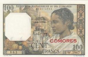 Comoros, 100 Francs, 1963, UNC, p3b