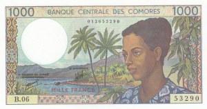 Comoros, 1.000 Francs, 1976, UNC, p8a